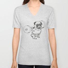 Pug Squats Unisex V-Neck
