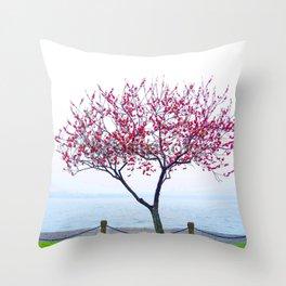 STANDING ALONE-PEACH BLOSSOM Throw Pillow