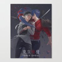 tokyo ghoul Canvas Prints featuring TOKYO GHOUL by Kossoribl