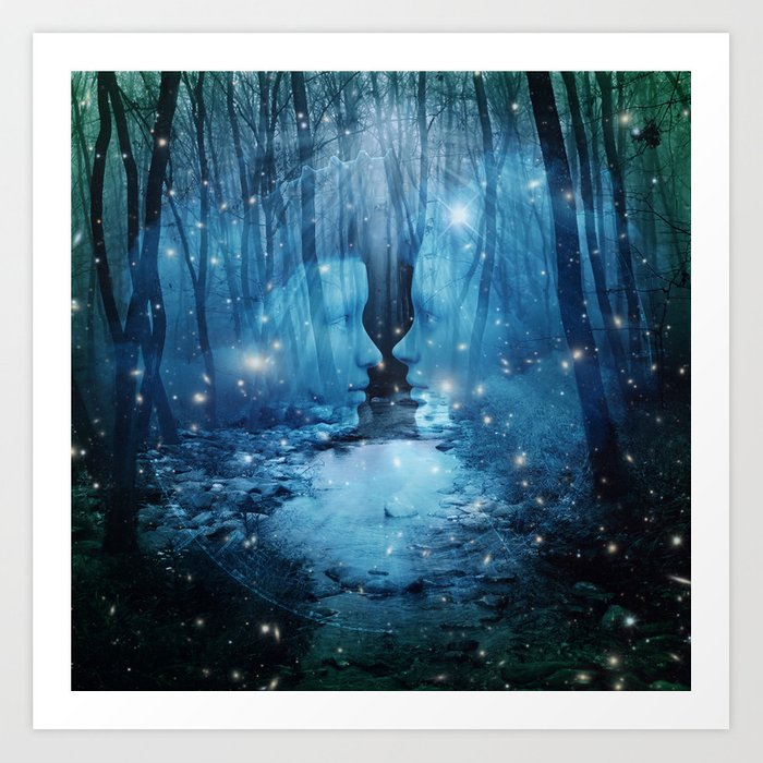 magical wood Art Print