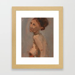 Figure Study with Red Hair Framed Art Print