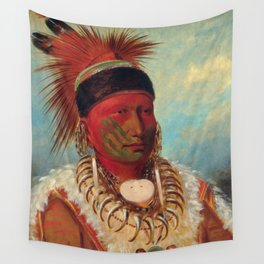 The White Cloud, Head Chief of the Iowas by George Catlin Wall Tapestry