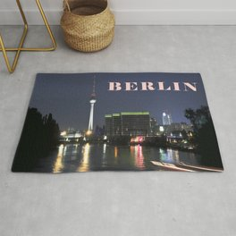 Night at river Spree in BERLIN Rug