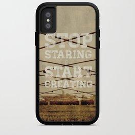 Stop Staring & Start Creating iPhone Case