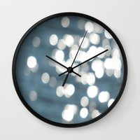 sparkles Wall Clocks featuring Sparkles by Lady Tanya bleudragon