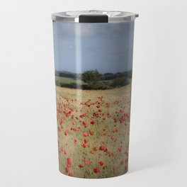 Waiting in the field Travel Mug
