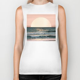 Summer Sunset Biker Tank