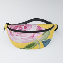 Watercolor Rose Fanny Pack