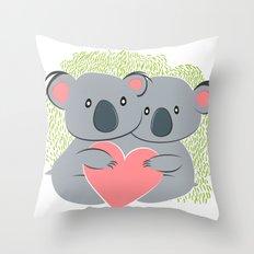 Koala innamorati Throw Pillow