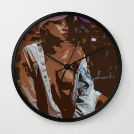 Casual Lady by Andre Wall Clock