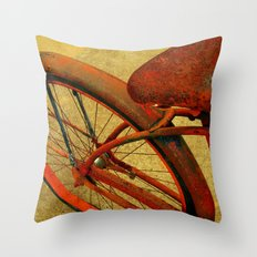 Vintage Bike Fall Home Decor Color Throw Pillow