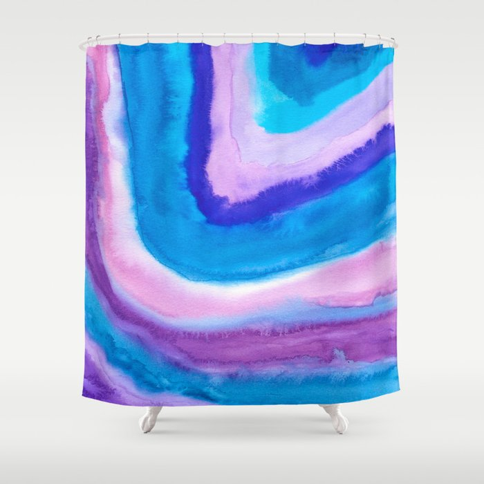 AGATE Inspired Watercolor Abstract 11 Shower Curtain