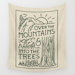 Over The Mountains Wall Tapestry