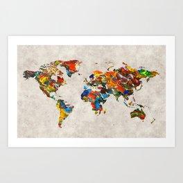 World Map 43 Art Print