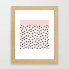 Bees on Daisies - Flora & Fauna Framed Art Print