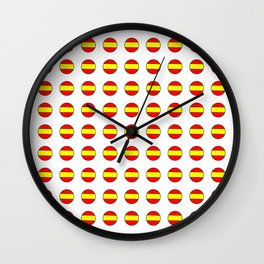 Flag of spain 13-spain,espana, spanish,plus ultra,espanol,Castellano,Madrid,Barcelona Wall Clock
