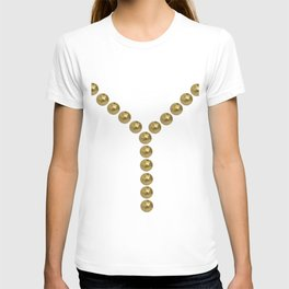 gold clips vintage fashion T-shirt