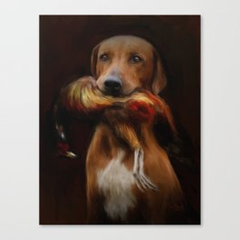 Hunter's Dog Canvas Print