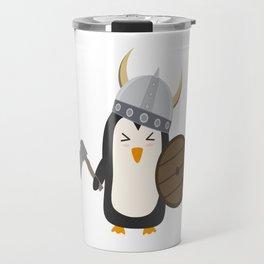 Penguin Viking   Travel Mug
