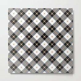 Black & White Lumberjack Pattern Metal Print