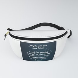 7 characteristics of well-liked people Fanny Pack