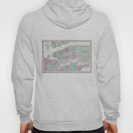 Vintage Map of NYC and Brooklyn (1861) Hoody