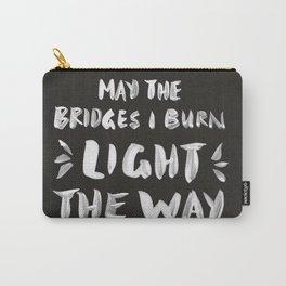 Burned Bridges – Black & White Carry-All Pouch