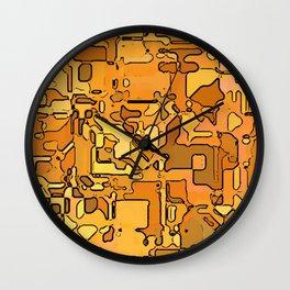 Abstract segmented 5 Wall Clock