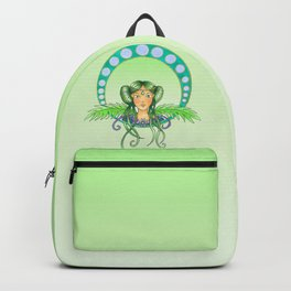 Green lady - Art Nouveau Style Backpack