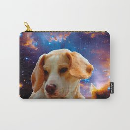 beagle puppy on the wall looking at the universe Carry-All Pouch