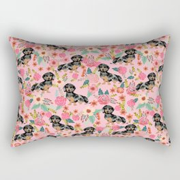 Dapple Dachshund doxie lover floral must have gifts dachsie flowers Rectangular Pillow
