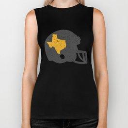 State of Shape of Texas Football Helmet Biker Tank