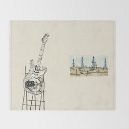 Post Rock Cafe Throw Blanket