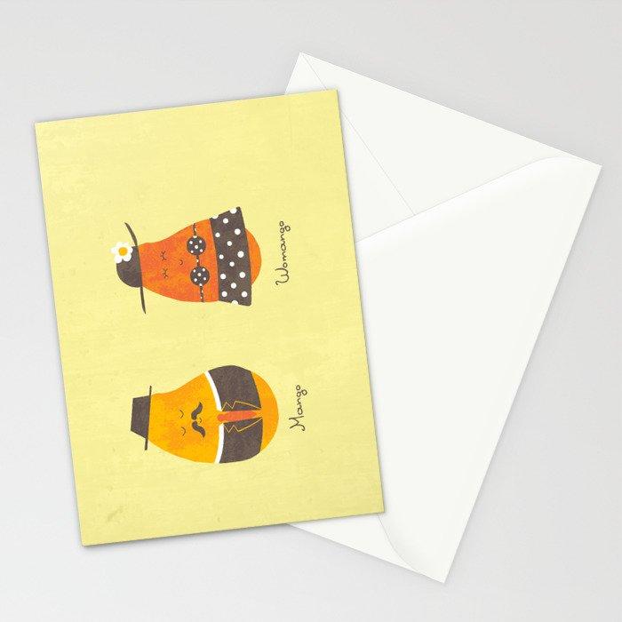 Fruit Genders Stationery Cards