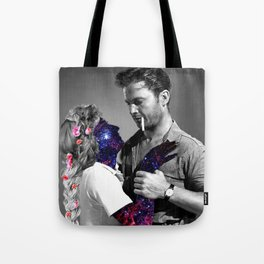 catching space love Tote Bag