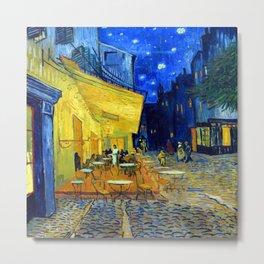Vincent van Gogh Cafe Terrace at Night Metal Print