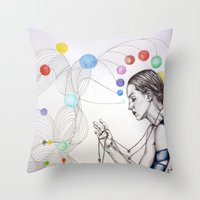 destiny Throw Pillows featuring Destiny by Heaven7
