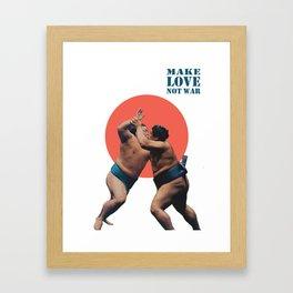 Make Love Not War (no.1) Framed Art Print