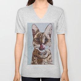 Lovely Cat Unisex V-Neck