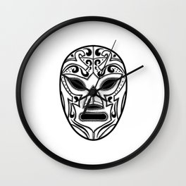 Mexican Wrestling Mask Wall Clock