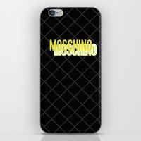 moschino iPhone & iPod Skins featuring MOSCHINO Quilted Bag by RickyRicardo787