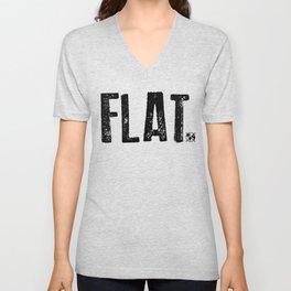 Flat Earth Unisex V-Neck
