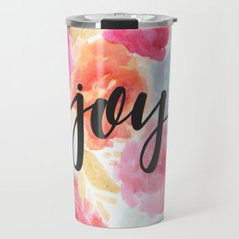 Watercolor Floral Joy Travel Mug