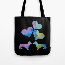 Art Dachshunds Tote Bag