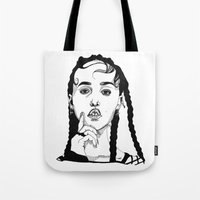 fka twigs Tote Bags featuring FKA Twigs by ☿ cactei ☿