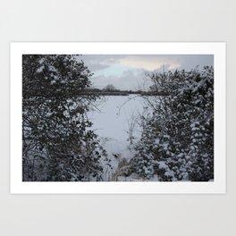 Snowy Heart Art Print