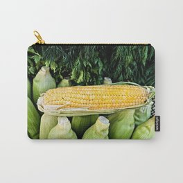 Yellow Corn Over Green Cobs Carry-All Pouch
