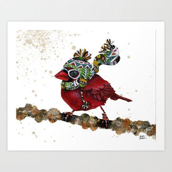 Cardinal Blaze 3 Art Print