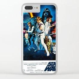 A New Hope Movie Poster George Lucas Han Solo Luke Skywalker Clear iPhone Case