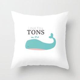Love You Tons Throw Pillow